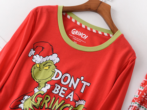 Image 3 - Heißer verkauf Weihnachten Frauen pyjamas Plus größe winter stricken baumwolle pyjama sets frauen Frische grün langarm casual nachtwäsche frauen
