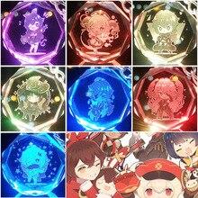 Genshin Impact Acrylic Animation Game Peripheral Dimension брелок подвеска аксессуары 77 красочный светящийся кристалл ключ кольцо