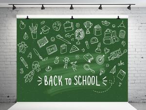 Image 1 - VinylBDS Green Screen Back To School Season Photography Backgrounds Blackboard  School Photo Backdrop Children Studio Backdrop