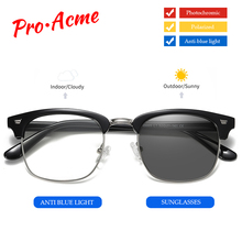 Pro Acme 2-in-1 Photochromic Sunglasses Men Blue Light Block
