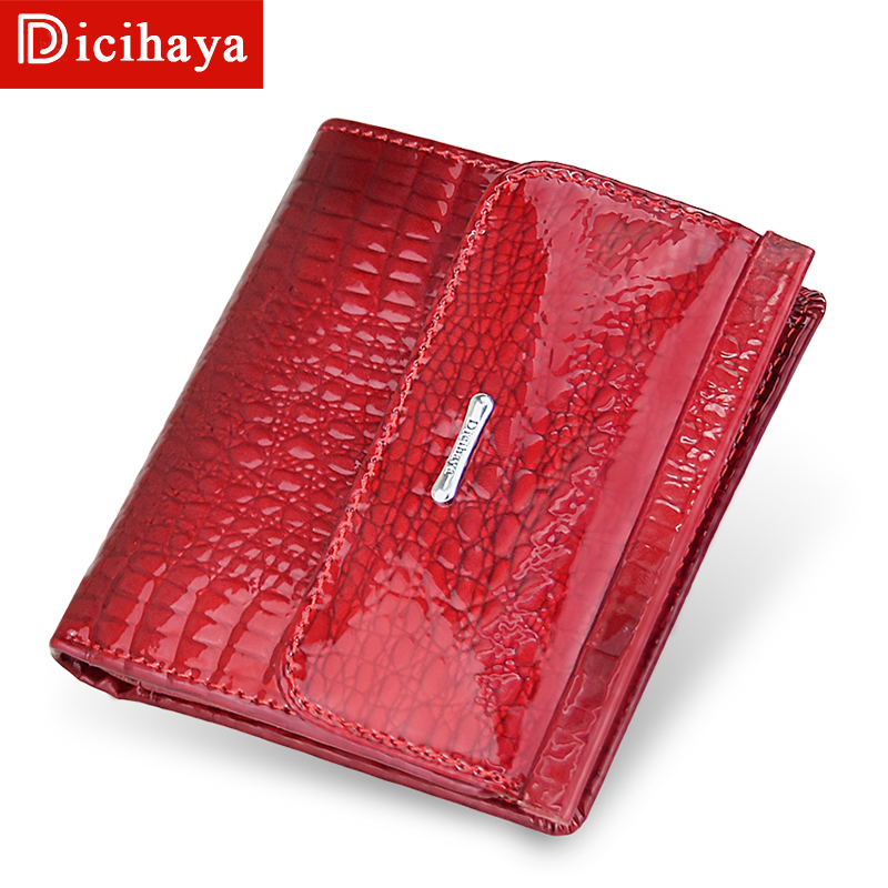 DICIHAYA Genuine Leather Women Wallets Mini Wallet Women's Short Clutch Luxury Female Purse Coin Purses Card Holder Coin Bag