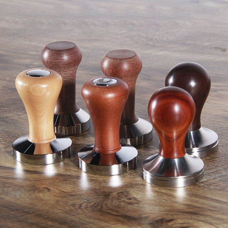 Stainless Steel Coffee Bean Powder Tamper for Coffee Filter Cup Wooden Handle Espresso Latte Cappuccino Tamper Coffee Baking