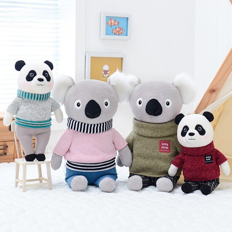 Puppe Weiche Plüsch Spielzeug Stofftiere Für Mädchen Baby Nette Cartoon Koala Panda Für Kinder Junge Kinder Weihnachten Geburtstag Geschenk