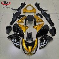 Motorcycle For Kawasaki Z800 2013 2014 2015 2016 Full Fairing Kits Injection ABS Cowling Gold and black
