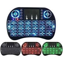 3 цвета i8 Клавиатура с подсветкой Английский Русский Испанский воздуха Мышь 2,4 ГГц Беспроводной клавиатура Сенсорная панель Ручной для ТВ коробка ПК