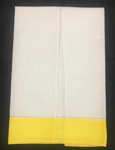 Set Of 12 Fashion Design Linen Guest Towels Cloth Guest /Hand Dish Kitchen Bathroom Handkerchiefs Towel White With Color Border
