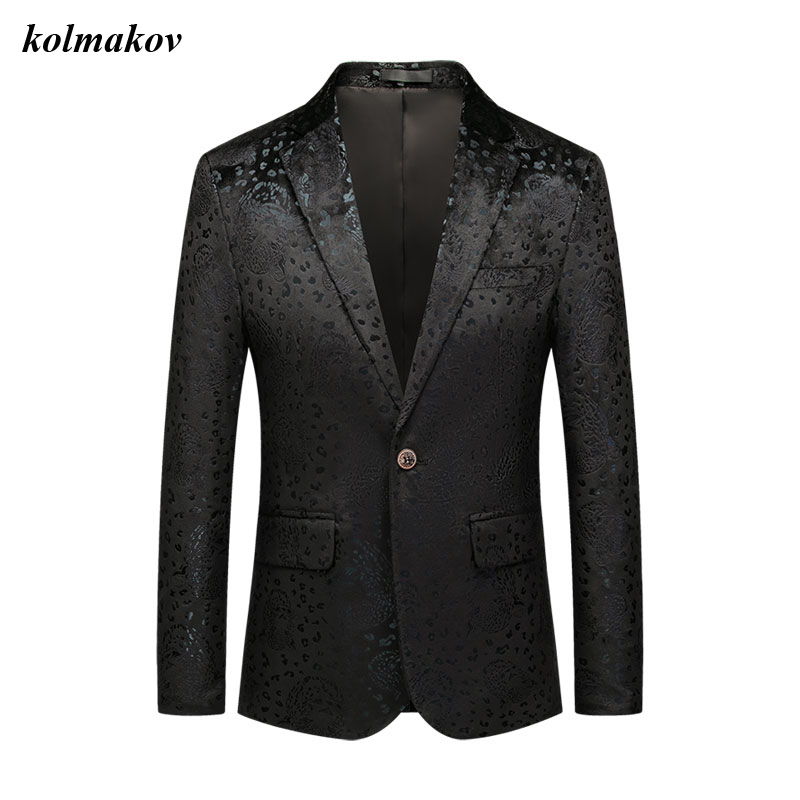 New Arrival Spring Style Men Boutique Blazers High Quality Business Casual Pattern Single Buttom Men's Suit Jacket Coat M-6XL