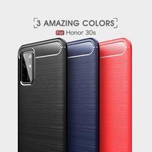 Мягкая обложка полная защита углеродного волокна TPU Силиконовый матовый для Huawei честь 30-е годы магия Р10 плюс чехол лайт мат 10