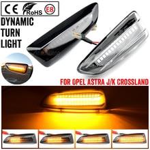 2 pçs led marcador lateral dinâmico transformar a luz do sinal para buick regal opel zafira c astra j k grandland x crossland x insígnia b