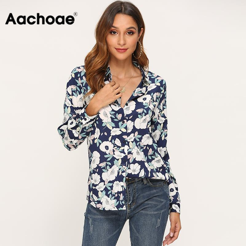 Long Sleeve Casual Blouse Women 2020 Floral Print Loose Elegant Shirt Blouse Ladies Office Turn Down Collar Fashion Top Blusas