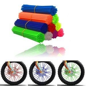 36Pcs/Bag Bike Wheel Spoke Protector Colorful Motocross Rims Skins Covers Off Road Bike Guard Wraps Kit Motorcycle Bike Guard