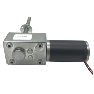 Image 3 - Long Threaded Shaft Micro DC Electric Worm Geared Motor High Torque DC 12V 24V 5 470RPM In DC Motor Adjustable Speed Self Lock