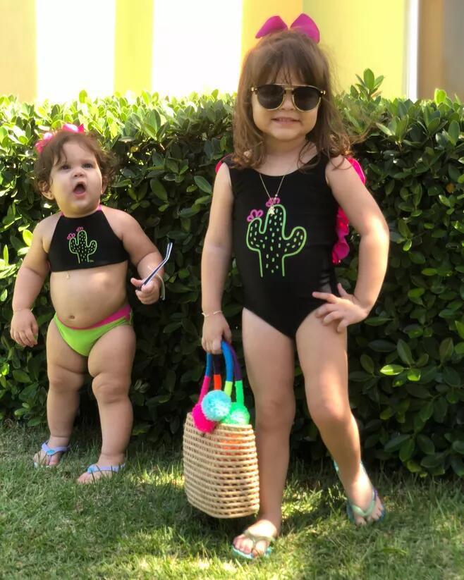 Girls Cactus One-piece Swimming Suit