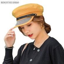 BINGYUANHAOXUAN New Womens Beret Hat Octagon Joker Bright Drill Berets Winter French Hats