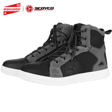 SCOYCO Motorcycle Boots Men Botas Moto Motorcycle Shoes Motocross Boots Protective Touring Riding Boots Casual For Autumn Winter