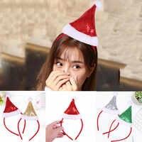 Tiara-Diadema navideña con lentejuelas para mujer, expositor de vestido de fiesta, sombrero de Navidad, diadema, decoración de Navidad, Festival, Navidad, 2021