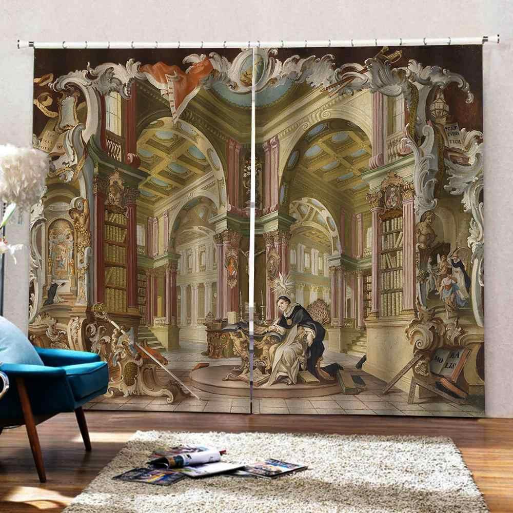 3D Fenster Vorhänge Wohnzimmer hochzeit schlafzimmer Cortinas Vorhänge europa vorhänge engel vorhang