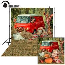 Allenjoy التصوير الخريف خلفية سيارة العشب الأحمر الريف استحمام الطفل الأطفال خلفية استوديو الصور صورة المتصل photophone