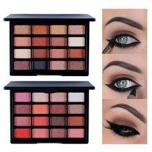 16 Colors Makeup Eyes Palette Fashion Nude Glitter Tones Waterproof Eyeshadow Beauty Cosmetics Set