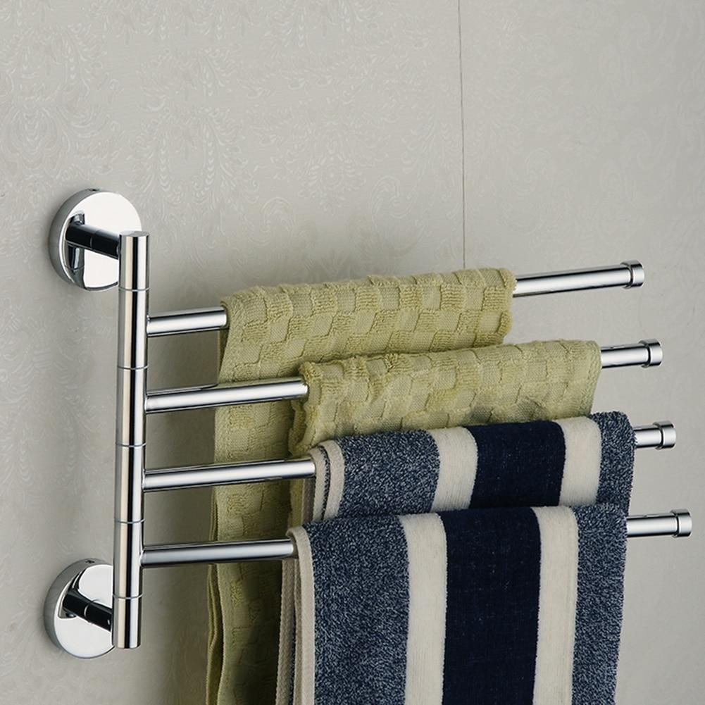 Ванная комната полотенце держатель нержавеющая сталь сталь полотенце вешалка полотенце штанга 4 слоя полотенце держатель кухня органайзер вешалка ванная аксессуары