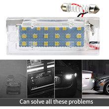2pcs Car LED Number License Plate Light For BMW E53 X5 1999-2003 E83 X3 03-10 High Bright 18LEDs 6000K 12V Lamp