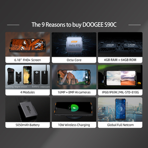 Image 2 - IP68 DOOGEE S90C Modular Rugged Mobile Phone Helio P70 Octa Core 4GB 64GB 16MP+8MP 6.18inch Display 12V2A 5050mAh Android 9.0