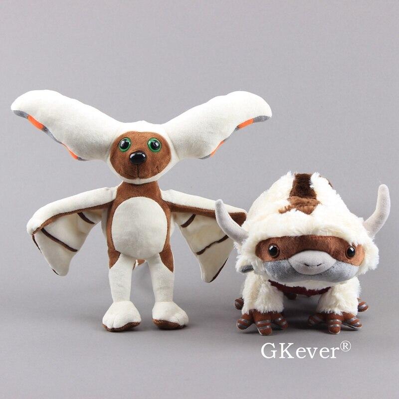 2pcs 30cm-40cm Cartoon Anime Appa Momo Plush Doll Toys Cute Kawaii Stuffed Animals Toys Children Christmas Birthday Gift