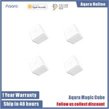 وحدة تحكم Aqara Magic Cube الأصلية التي يتم التحكم فيها عن طريق تطبيق المنزل الذكي Xiaomi ، الإصدار Zigbee