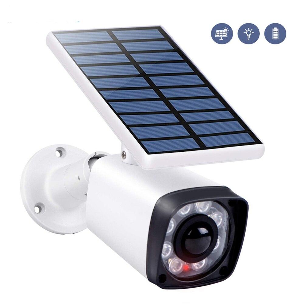 Имитация солнечной энергии, наружный водонепроницаемый светильник для наблюдения, поддельная камера, вспышка, датчик, манекен, CCTV, 120 градус...