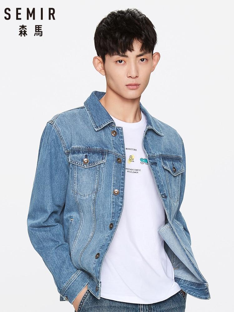 SEMIR Casual Style Denim Jacket Men Youth 2020 Spring New Korean Trend Lapel Cotton Jacket Man