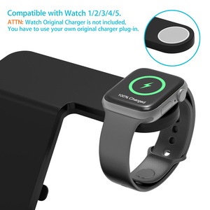 Image 5 - 15W Qi Wireless Charger 5 in 1 Charging Dock Station for Samsung Galaxy Watch Buds Gear For Apple iWatch iPhone 11 X Airpods Pro