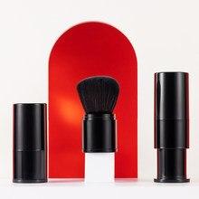1 pçs blush make-up escova de náilon retrátil cabeça portátil mini fundação conjuntos de beleza viagens ferramentas punho curto cosméticos