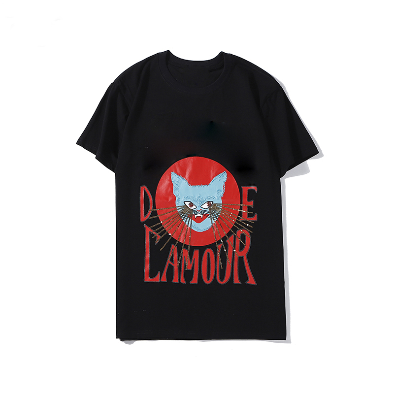 2020 High Grade Cat Print T shirt Ladies O neck Heavy Embroidery Sequins Luxury Tops Casual Loose Unisex T shirt Women Tees|T-Shirts| - AliExpress