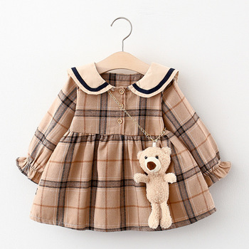 2020 Fall Newborn Baby Girl Dress Clothes Toddler Girls Princess Plaid Birthday Dresses For Infant Baby Clothing 0-2y Vestidos autumn newborn baby dress girls clothes long sleeve plaid princess dresses for infant baby clothing 0 2y toddler girl dress