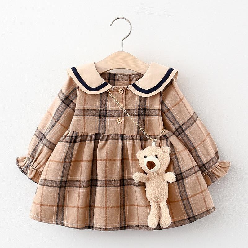 2020 outono vestido da menina do bebê recém-nascido roupas da criança meninas princesa xadrez vestidos de aniversário para o bebê infantil roupas 0-2y vestidos