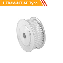 3M 40T Timing Pulley Wheel HTD3M Type Gear Belt Pulley 11mm/16mm Belt Width 10/12/15/16/17/19/20mm Bore Toothed Pulley