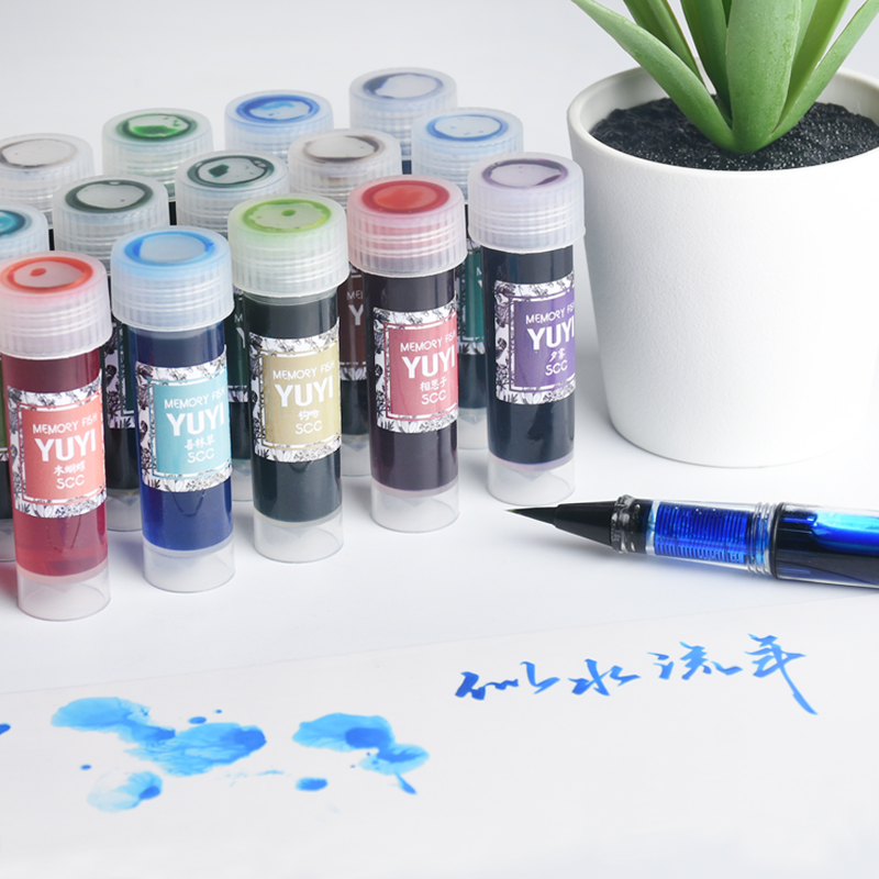 Non-carbon 5ml Colored Ink Gradient Fountain Pen Ink Portable Bottle Ink for Glass Pen Dip Pens Ink Supplies
