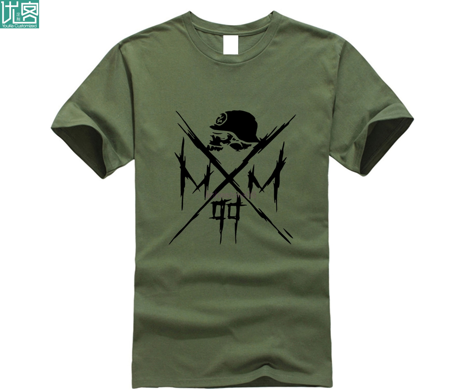 Newest Fashion  O-Neck Short Sleeve Men's Metal Mulisha Hats Cool Logo Design Graphic T-shirts Homme
