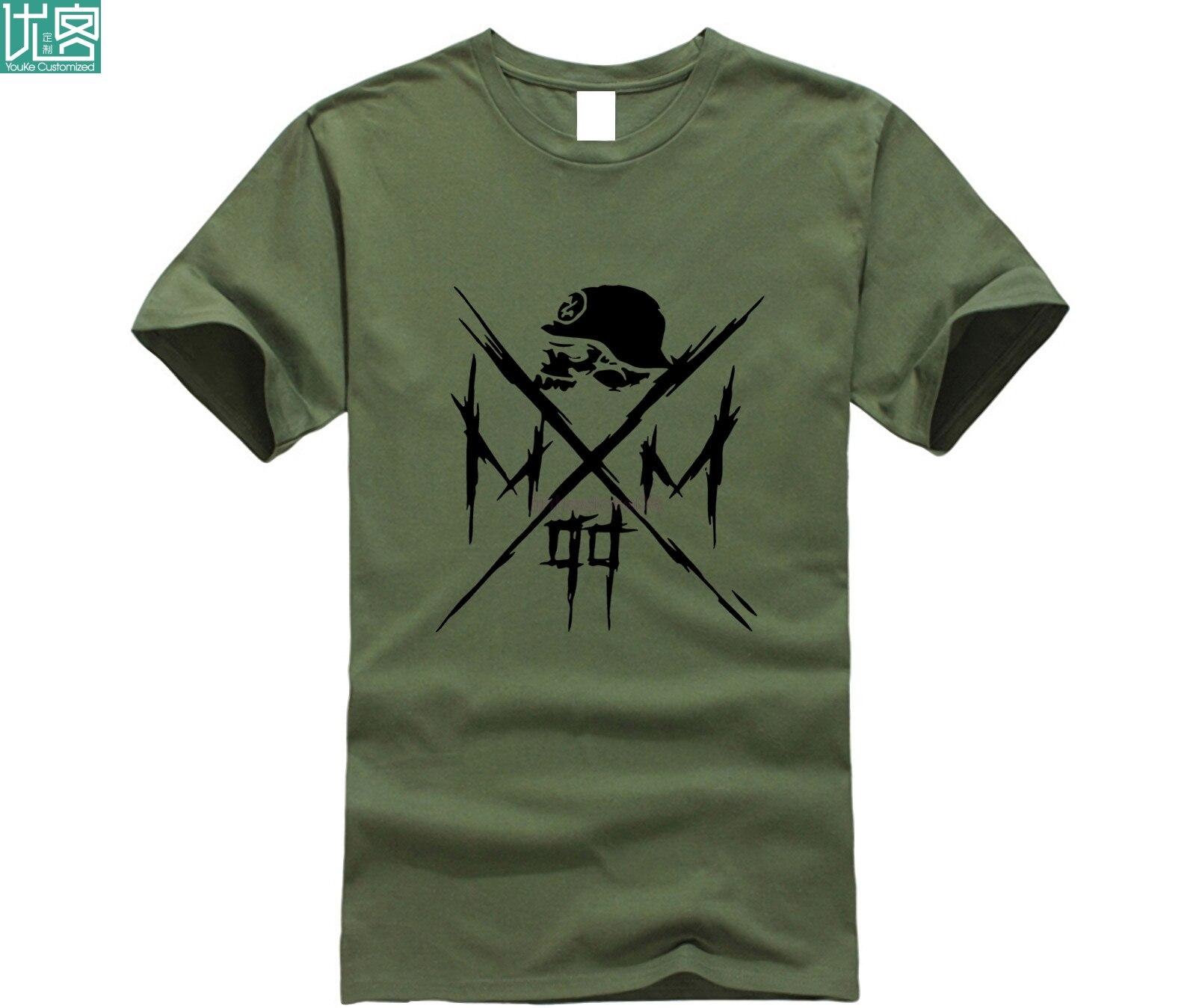 Newest Fashion  O-Neck Short Sleeve Men's Metal Mulisha Hats Cool Logo Design Graphic T-shirts Homme