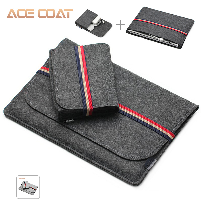 ACECOAT Fashion Soft Sleeve Bag Case For Apple Macbook Air Pro Retina 13 15 16 Laptop Anti-scratch Cover For Macbook Pro 13 Case
