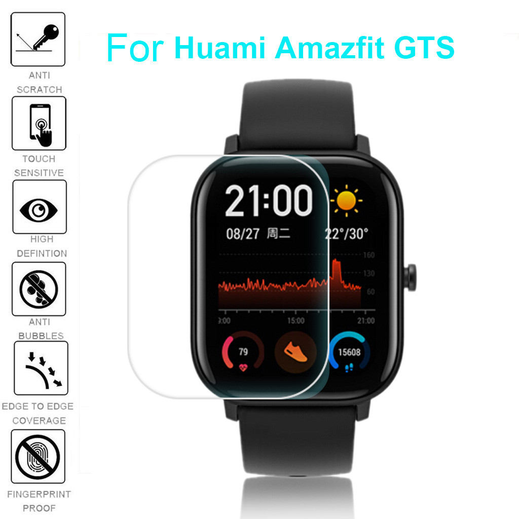 Smart watch band for Huami Amazfit GTS 3pc Explosion-proof Full Cover Clear Soft Pet HD Screen Protector Film smart Accessories(China)