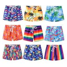 Swim-Shorts Baby-Boys-Girls Toddler Beach Kids Fashion New Print 2-7T