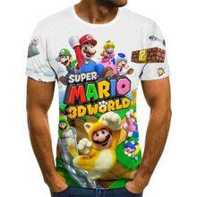 3d футболка мультфильм Марио 3d принт футболка смешной повседневный игрок O воротник 2020 лето новинка с короткими рукавами футболка топ