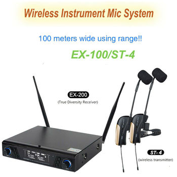 EX-200/ST-4 Professional Stage Wireless Instrument Microphone With Reverb Function For Saxophone Stereo Wireless Monitor System