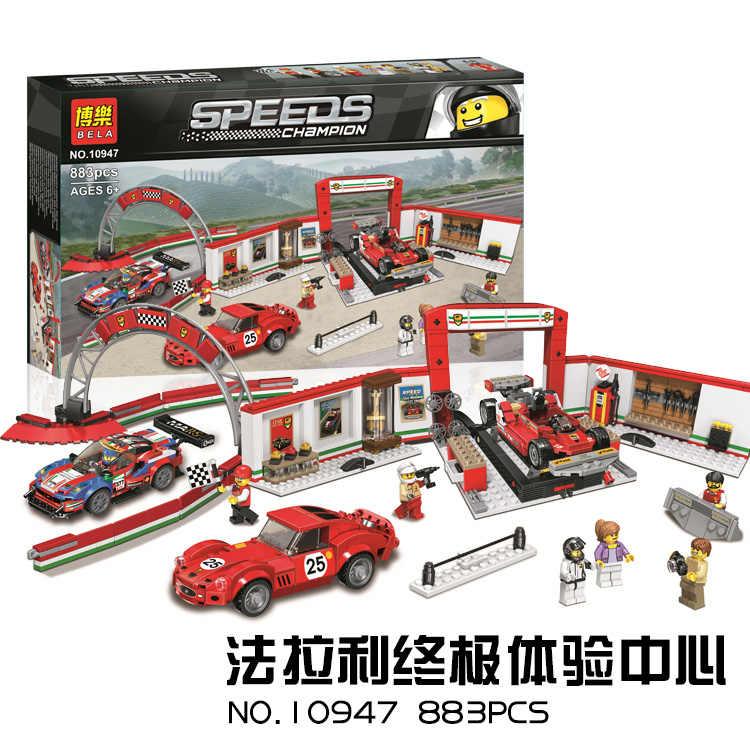 Juara Kota Kecepatan Super Mobil Balap Audi R8 GT 911 Ford Mustang Bugatti DECOOL Teknik Mobil Terkenal Anak Blok Bangunan mainan Hadiah