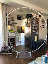 Arco de fondo redondo de hierro forjado para decoración, accesorio circular decorativo para fiesta de cumpleaños, escenario, boda, para exteriores