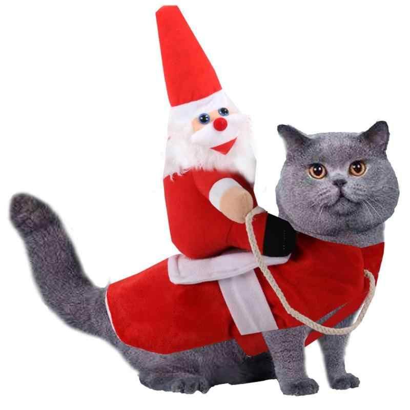 Cane di natale Costume di Babbo Natale Vestiti Del Cane Del Partito di Festa vestire Abbigliamento per Smal Medie Cani di Taglia Grande Divertente Pet Vestito di Equitazione