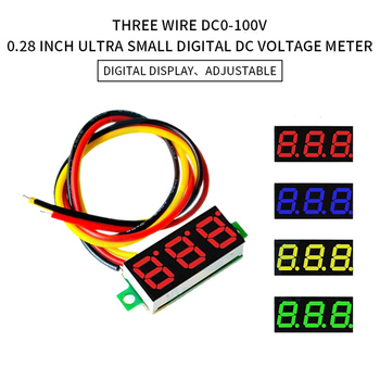 Digital Voltmeter DC 4.5V to 30V Digital Voltmeter Panel Meter Red/Blue/Green For 6V 12V Electromobile Motorcycle Car image