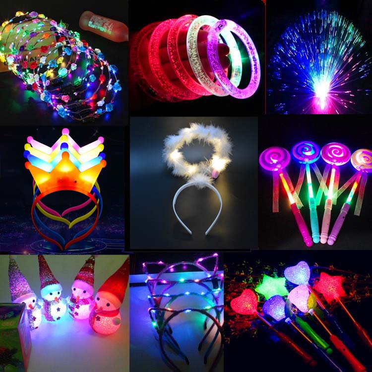 1PCS LED Flashing Glow Headband Crown Halo Angel Cosplay Light Hairband Concert Wand Stick Toys Wedding Rave Glow Party Supplies