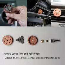 Essential Oil Diffuser For Car With Vent Clip, Wooden Stainless Steel Lava Stone Aromatherapy Diffuser Locket Mini Air Freshener(China)